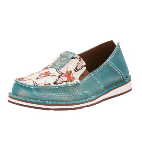 Ariat Shimmer Turquoise Steers Head Cruisers $159.95