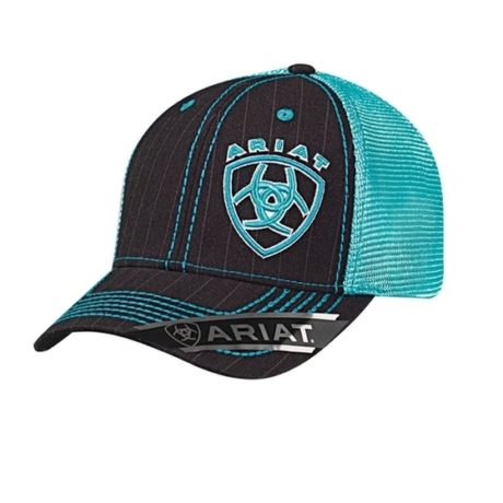 Ariat Black/Turquoise Mesh Back Cap $39.95