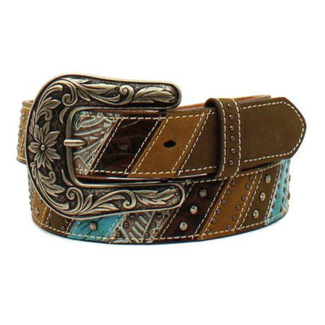 Ariat Turquoise/Silver/Brown Belt $89.95