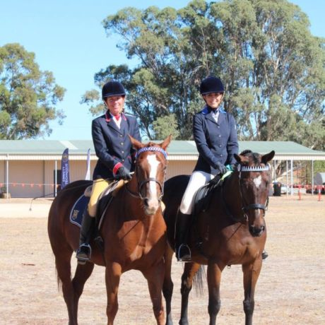 The two barrel racing ponies went in pairs together, and won :)