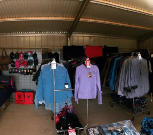 Kids clothing (new seasons and sale) as well as mens gear, lots of flannelette and saddlery :)